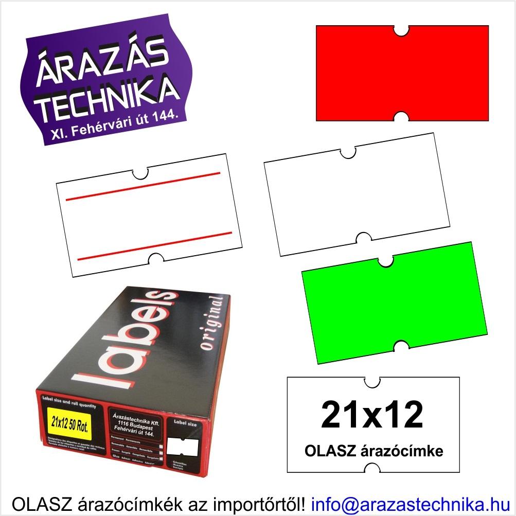21x12mm árazócímke