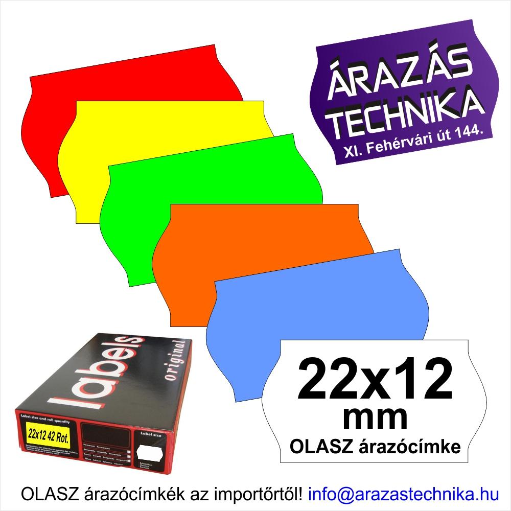 22x12mm árazócímke