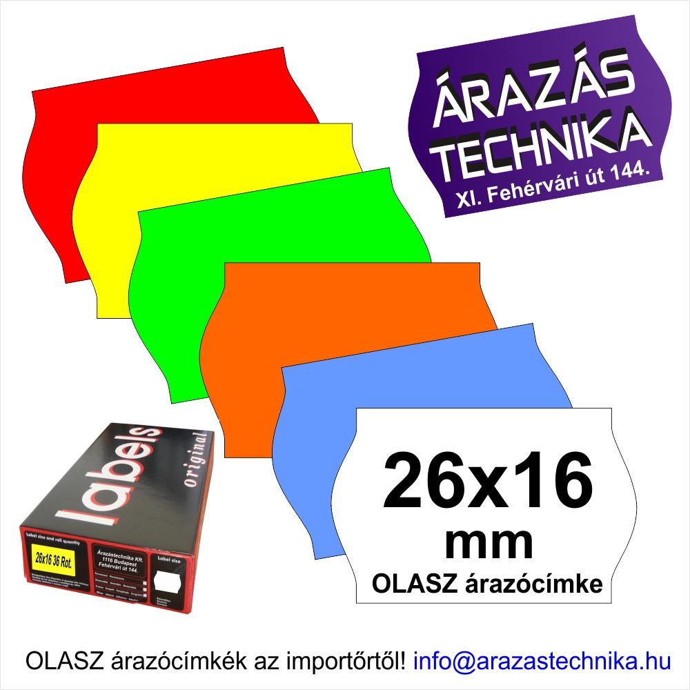 26×16mm árazócímke